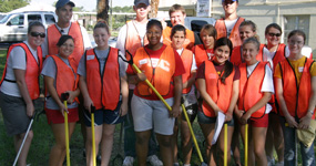 Community service student workers giving back