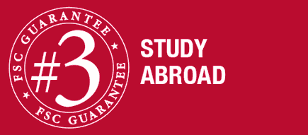 guarantee number three. study abroad