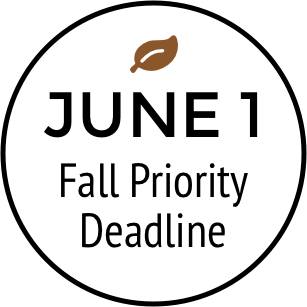 June 1 fall priority deadline