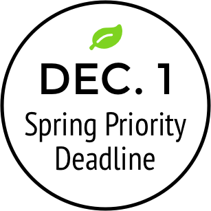 December 1 spring priority deadline