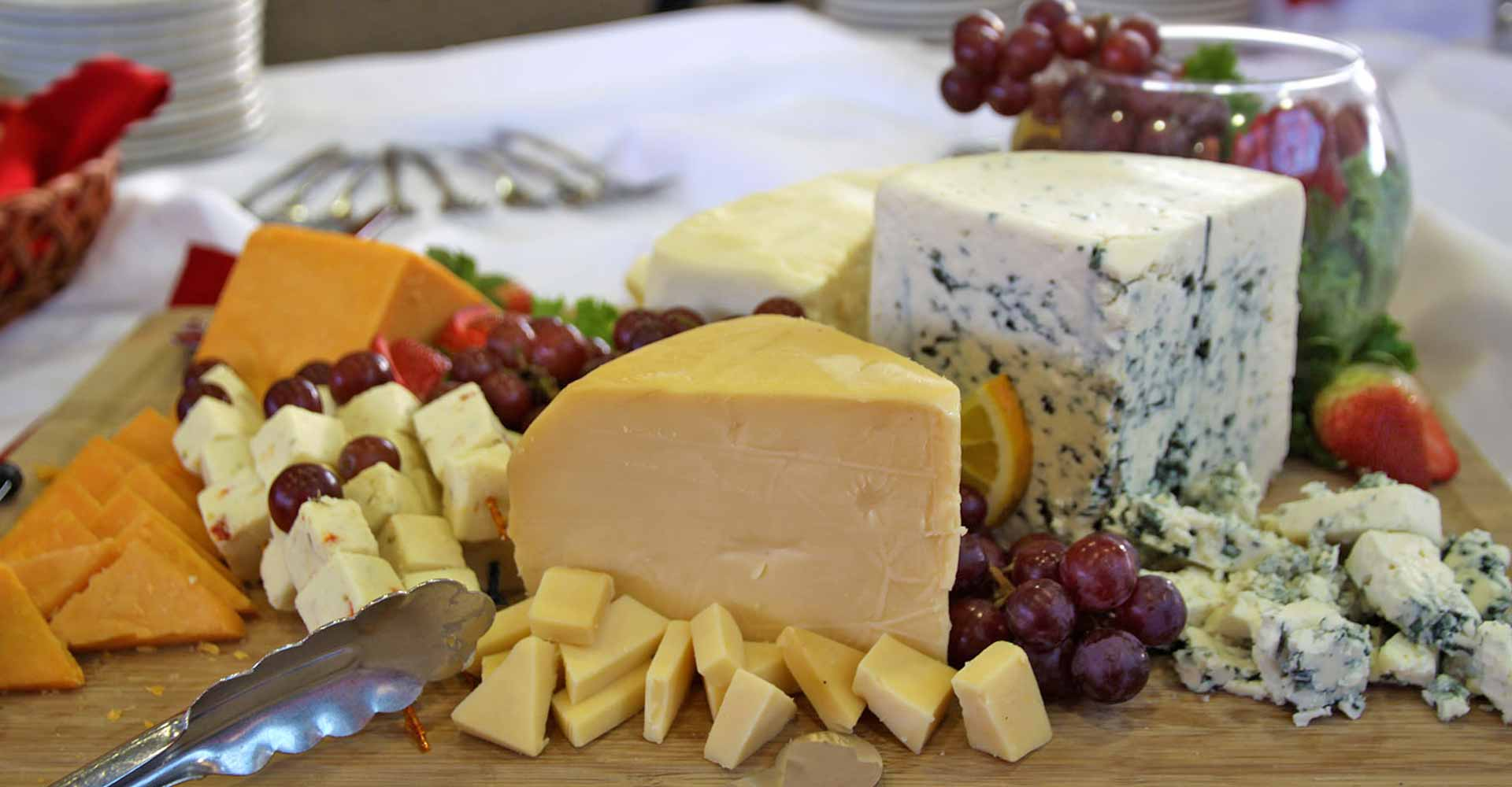 Guest Services Catering cheese platter