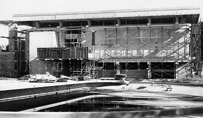 Roux Library Construction, 1968
