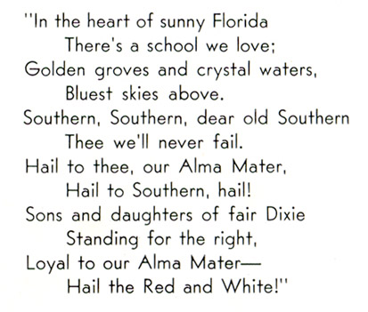 Florida Southern College Alma Mater, 1942 Interlachen